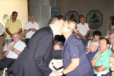 """גלרייה - טקס הנצחת כניסת בנין מכבי ע""""ש שמחה לוסטיג ז""""ל 5.10.2010 תמונה 33 מתוך 59"""