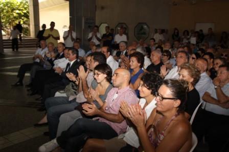 """גלרייה - טקס הנצחת כניסת בנין מכבי ע""""ש שמחה לוסטיג ז""""ל 5.10.2010 תמונה 40 מתוך 59"""