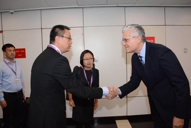 ביקור משלחת מסין 5.6.2015